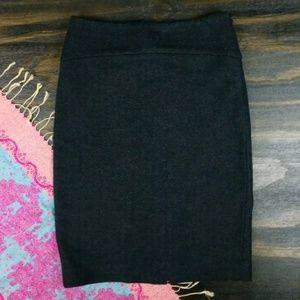 Banana Republic charcoal wool knit pencil skirt